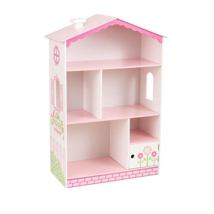 Книжная полка KidKraft Кукольный домик, цвет: розовый цена