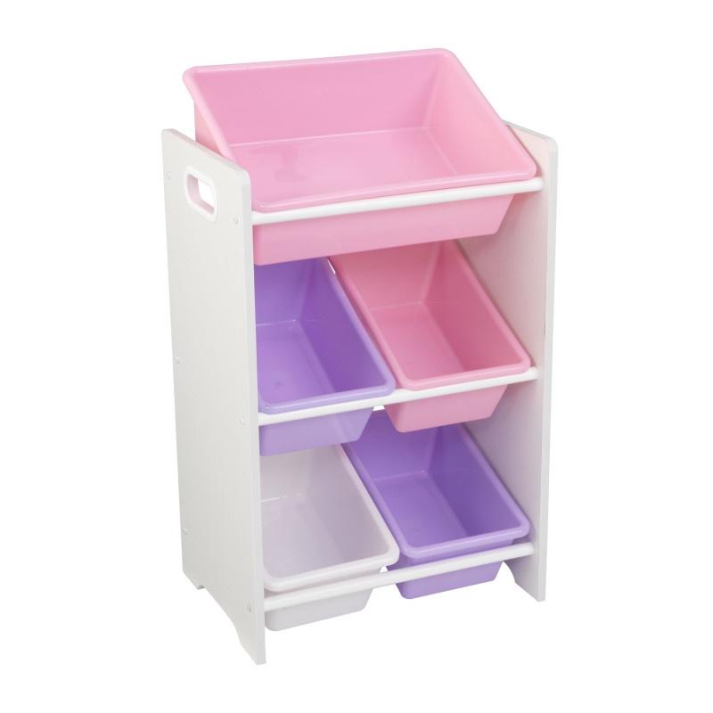 Система хранения KidKraft, 5 контейнеров, цвет: розовый/сиреневый