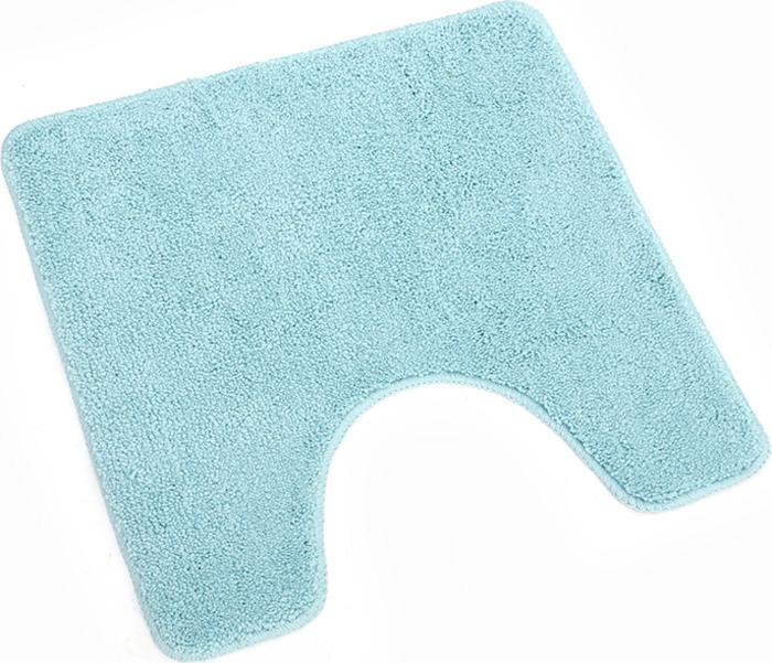 Коврик для туалета Verran Checks, цвет: синий, 50 x 50 см