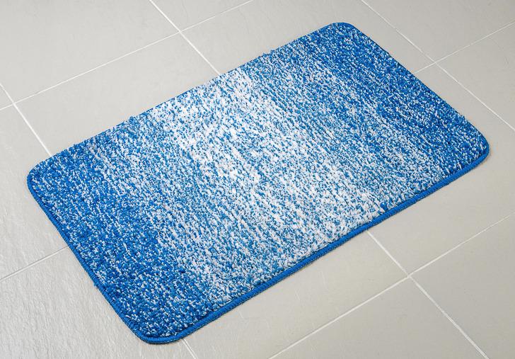 Коврик для ванной Verran Listado, цвет: синий, 50 x 80 см
