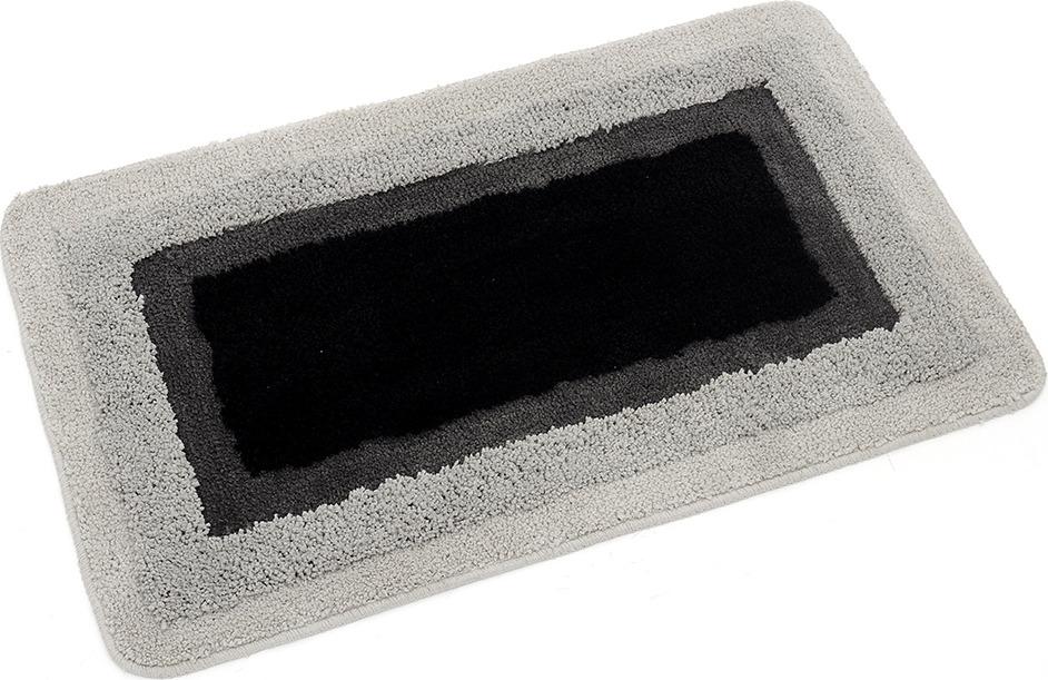 Коврик для ванной Wess Belorr , цвет: серый, черный, 50 x 80 см