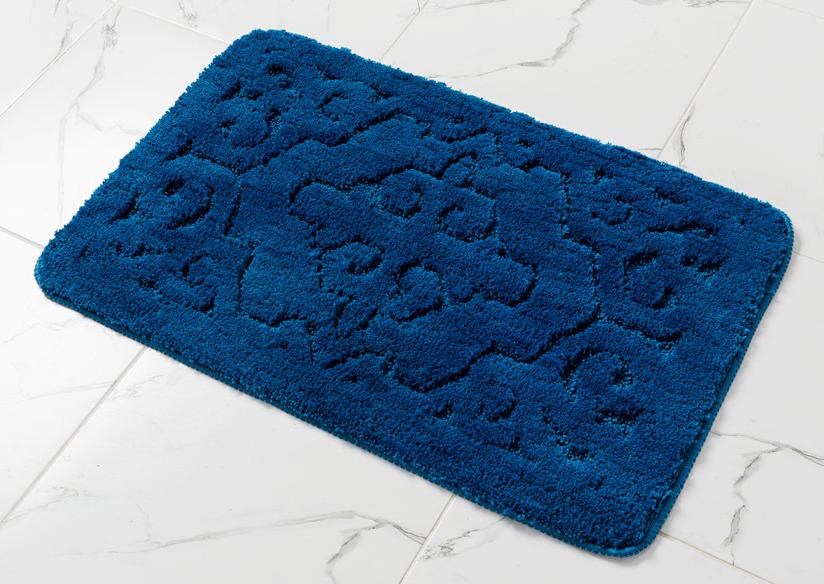 Коврик для ванной Wess Orient, цвет: синий, 50 x 80 см