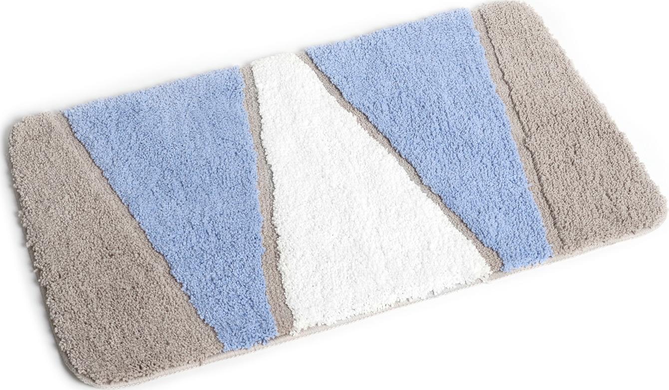 Коврик для ванной Wess Rainbow, цвет: синий, бежевый, 50 x 80 см