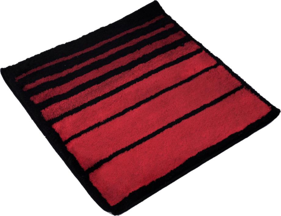 Коврик для ванной Wess Barra, цвет: красный, 70 х 70 см