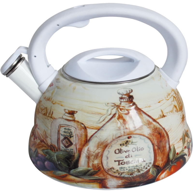 Чайник эмалированный RS\WK- 7540-30 3,0 л / со свистком/ курк. механизм/(х12) чайник rainstahl со свистком цвет белый 3 л 7540 30rs wk