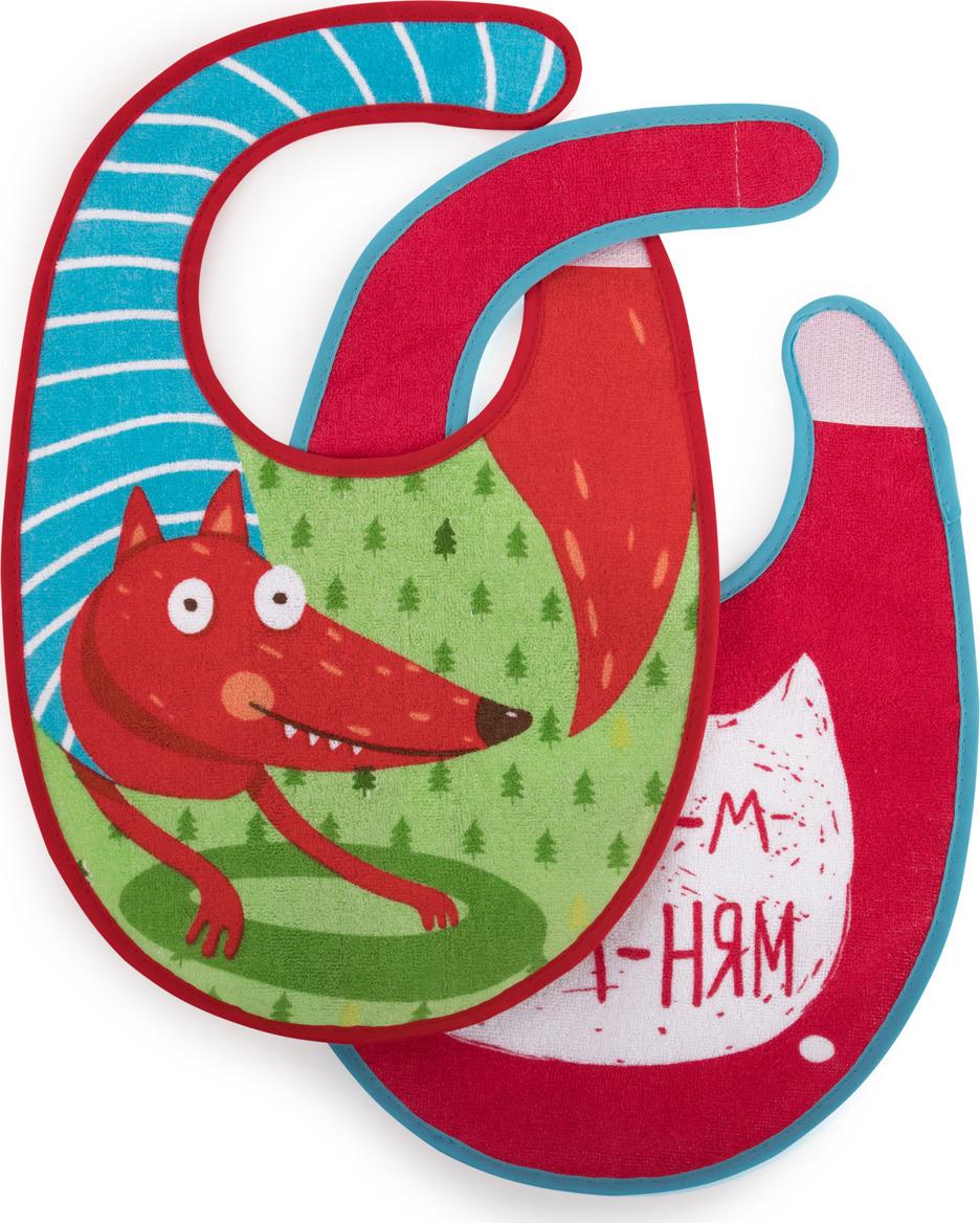 Набор нагрудных фартуков Happy Baby, от 3 месяцев, 2 шт. 16012 fox недорого