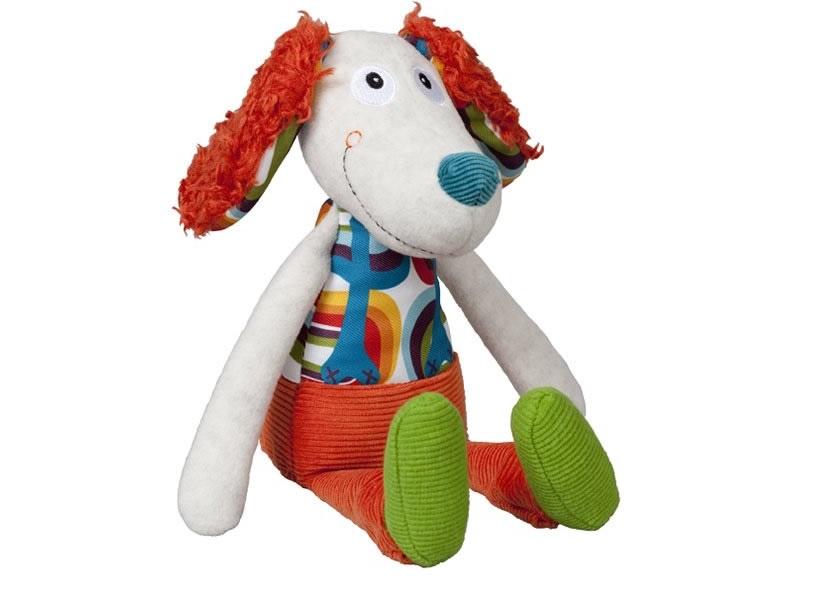 Фото - Мягкая игрушка Ebulobo Пёсик Тони, с погремушкой внутри погремушка пёсик