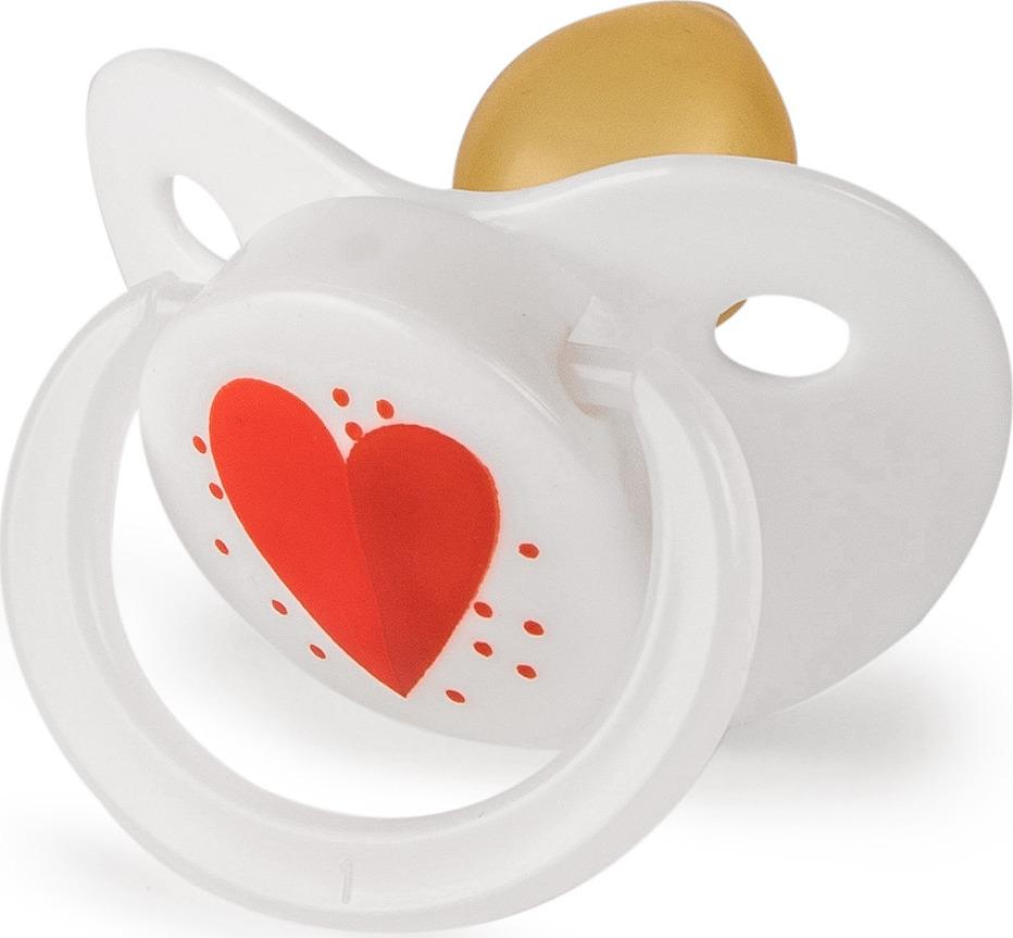 Пустышка Happy Baby, от 0 месяцев. 13017 сердечко пустышка латексная nuk успокоительная софт размер 2 синяя с голубым кольцом