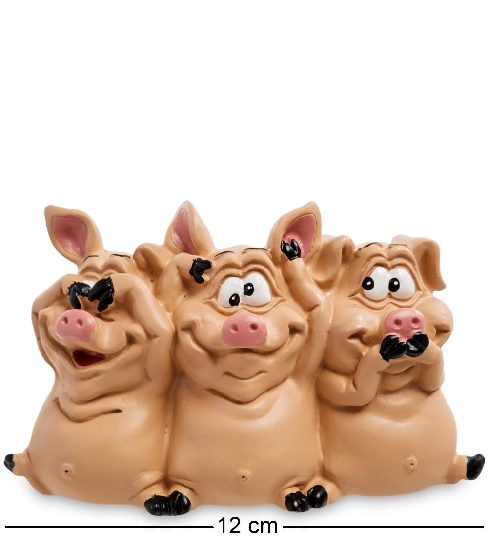 Статуэтка The Comical World of Warren Stratford ''Трио мудрых свиней'' статуэтка совы главный нападающий w stratford