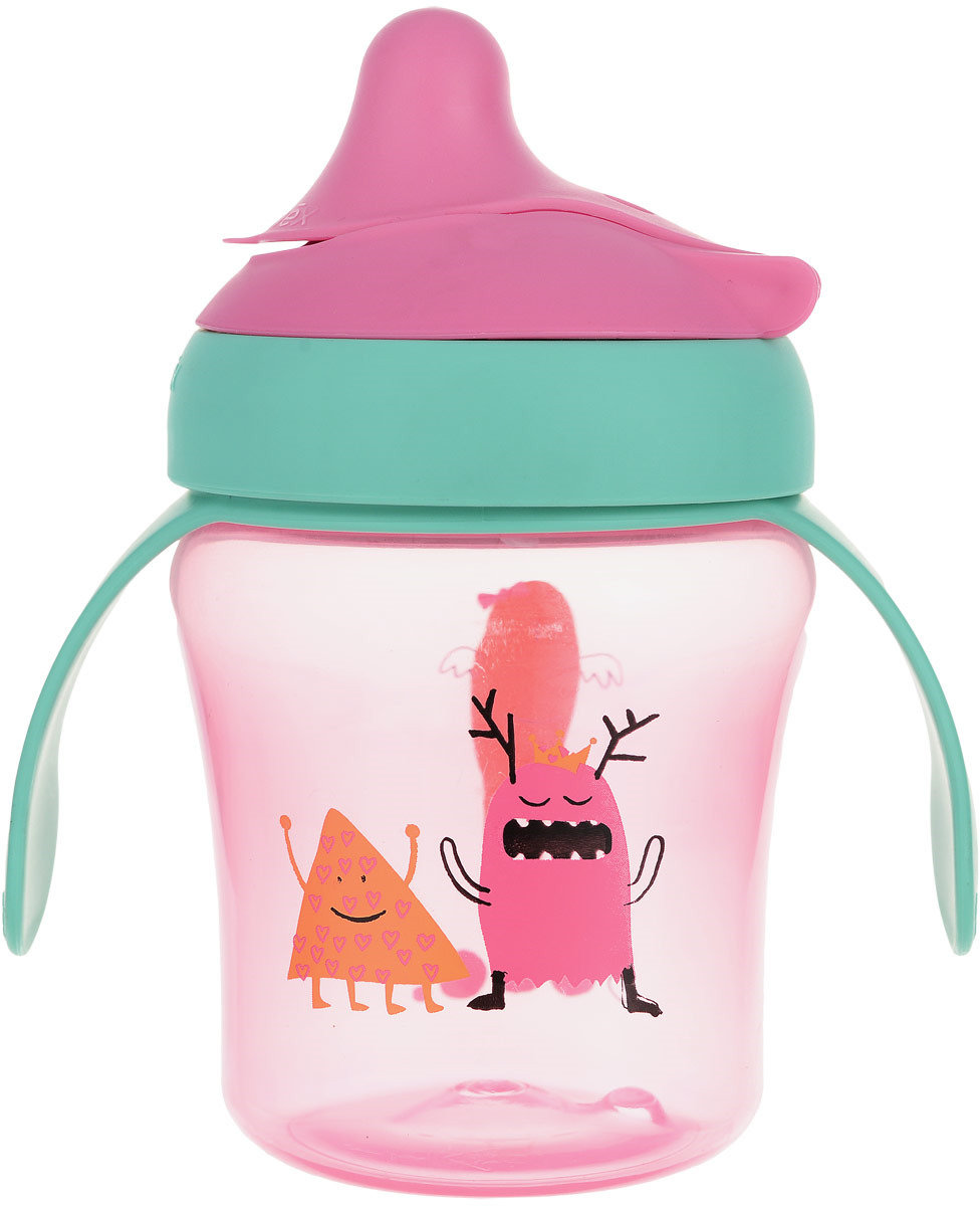 Suavinex Поильник BOOO от 6 месяцев цвет розовый, зеленый suavinex поильник booo от 4 месяцев с ручками цвет розовый