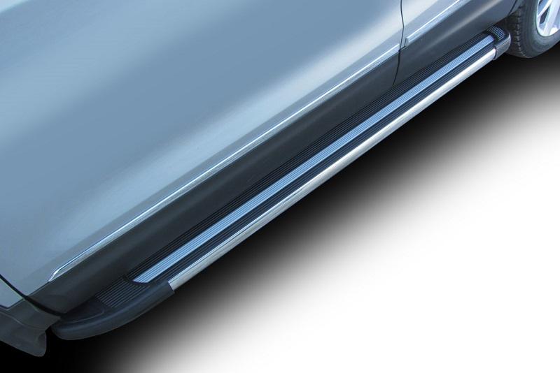 Комплект защиты штатных порогов Arbori Luxe Black, алюминиевый профиль, 1700, для Hyundai Creta 4WD 2016-