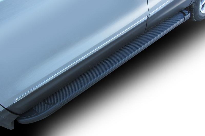 Комплект защиты штатных порогов Arbori Optima Black, алюминиевый профиль, 2000, для Volkswagen Amarok 2016-