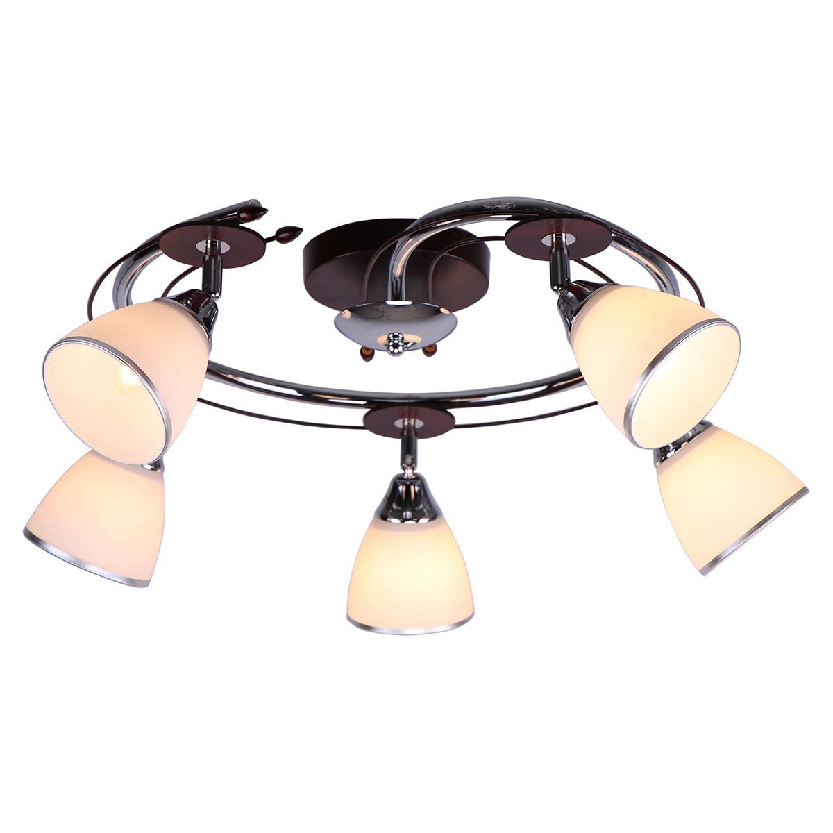 Потолочный светильник Toscom Nancy, E27, 5x60Вт Вт люстра toscom paula tc 133 203