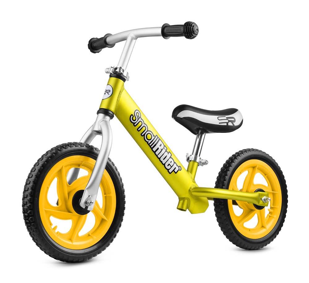 беговелы Детский беговел Small Rider Foot Racer EVA, легкий, алюминиевый, цвет: золотой