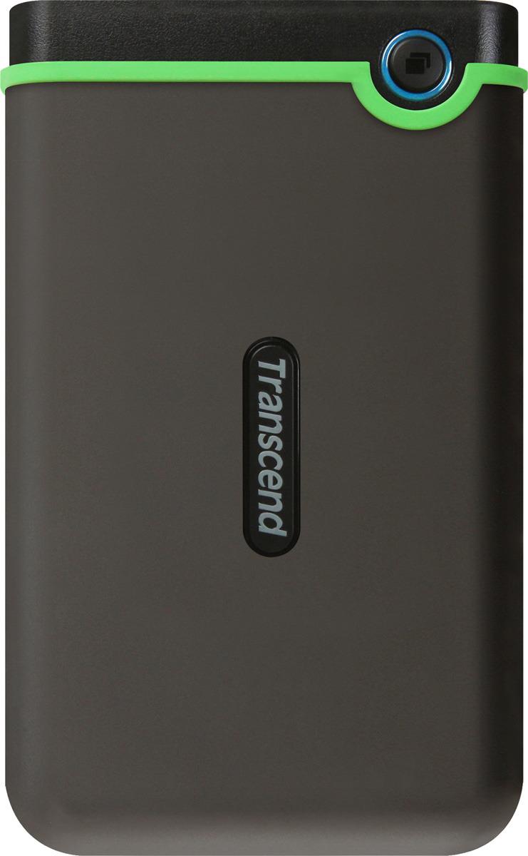 Портативный внешний жесткий диск Transcend StoreJet 25M3S, 1TB, Dark Gray Light Green