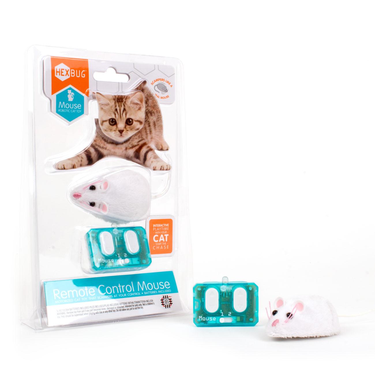 Игрушка для животных Hexbug Мышка на радиоуправлении, белый