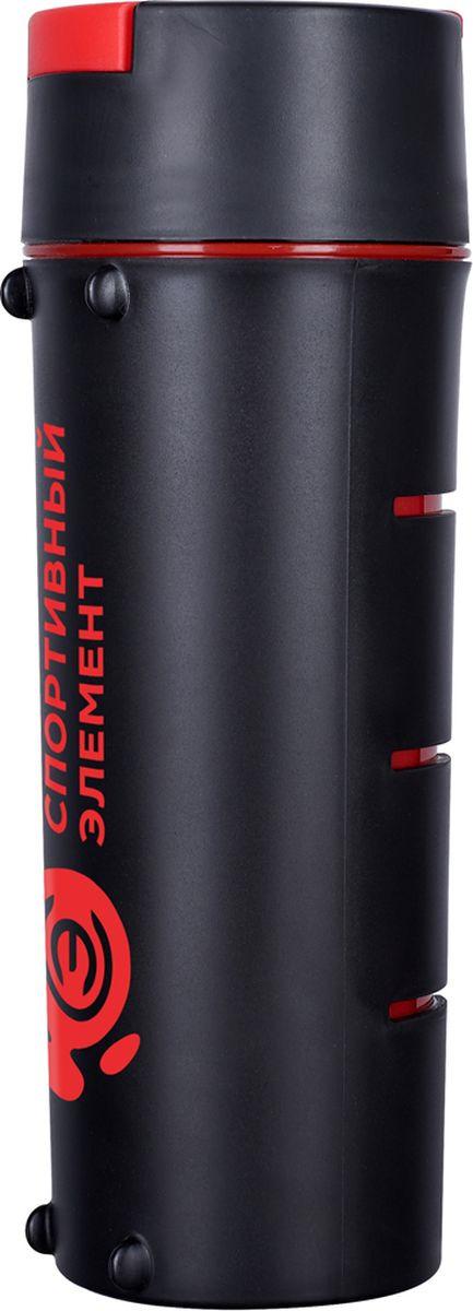 Бутылка для воды Спортивный Элемент Гранит, цвет: красный, черный, 600 мл бутылка для воды walmer sport цвет синий 600 мл