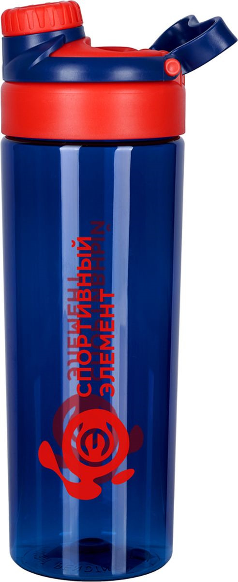 Бутылка для воды Спортивный Элемент Лорелит, цвет: синий, красный, 800 мл бутылка для воды herevin цвет красный белый 500 мл