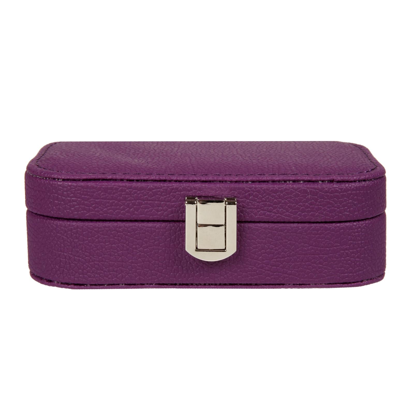 Дорожная шкатулка для украшений, S-7117-2 фиолетовый цена 2017