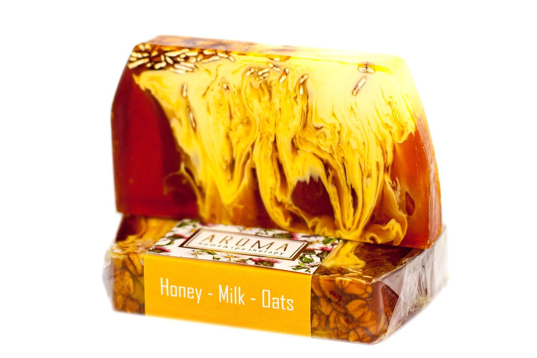 Фото - Мыло косметическое ORGANIC THERAPY Овсяно-медово-молочное benefit gold rush румяна для лица медово персиковые медово персиковый