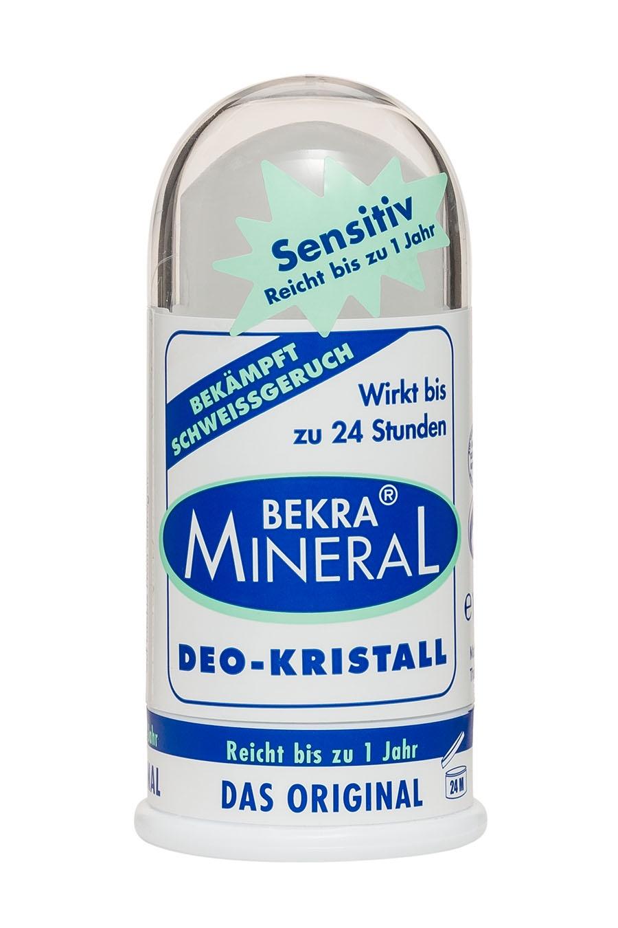 Дезодорант Bekra Mineral Натуральный цельный кристалл Bekra Mineral Sensitiv, 100 дезодорант спрей для ног bekra mineral fuss geruch stop минеральный 150 мл