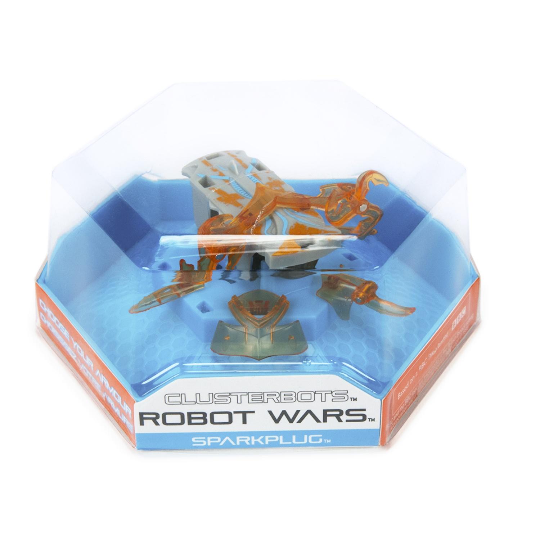 """Игрушечный робот HEXBUG """"Космический легионер. Спаркплаг"""" (2 диска) оранжевый"""