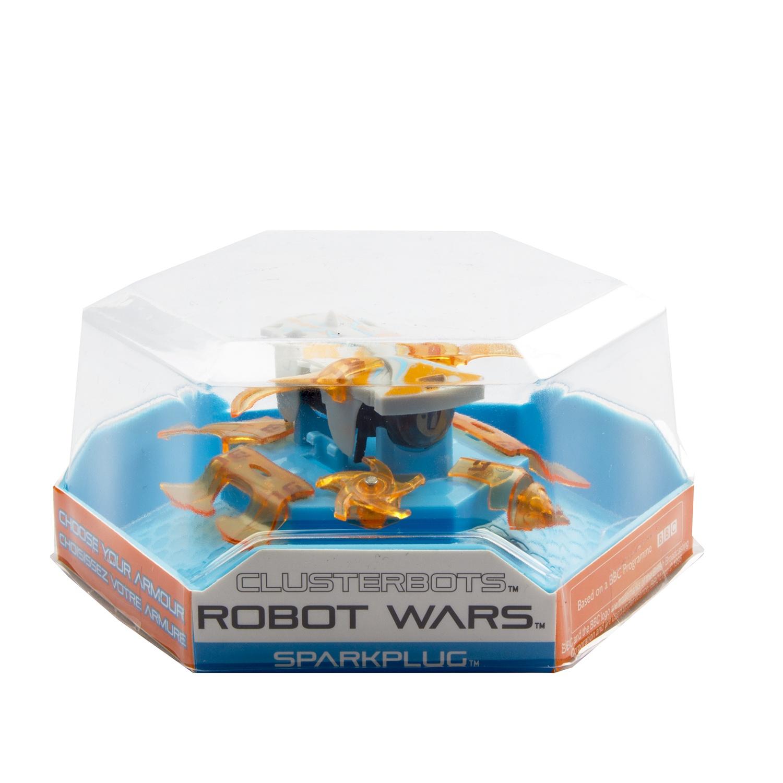 """Игрушечный робот HEXBUG """"Космический легионер. Спаркплаг"""" (2 лезвия) оранжевый"""