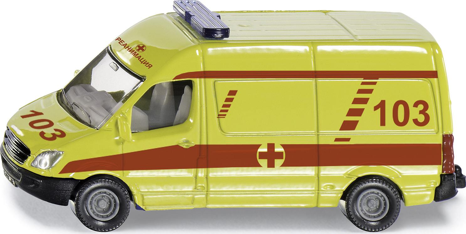 Машинка Siku Скорая помощь. 0809RUS набор машинок siku скорая помощь