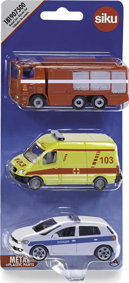 Набор машинок Siku Служба спасения набор машинок die cast полиция