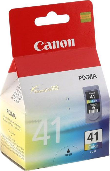 Картридж Canon CL-41, голубой, пурпурный, желтый, для струйного принтера, оригинал