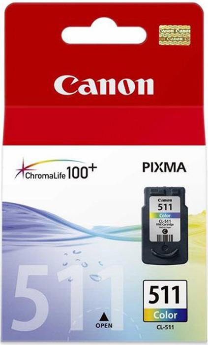 Картридж Canon CL-511CMY, голубой, пурпурный, желтый, для струйного принтера, оригинал