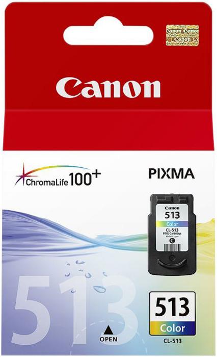 Картридж Canon CL-513CMY, голубой, пурпурный, желтый, для струйного принтера, оригинал
