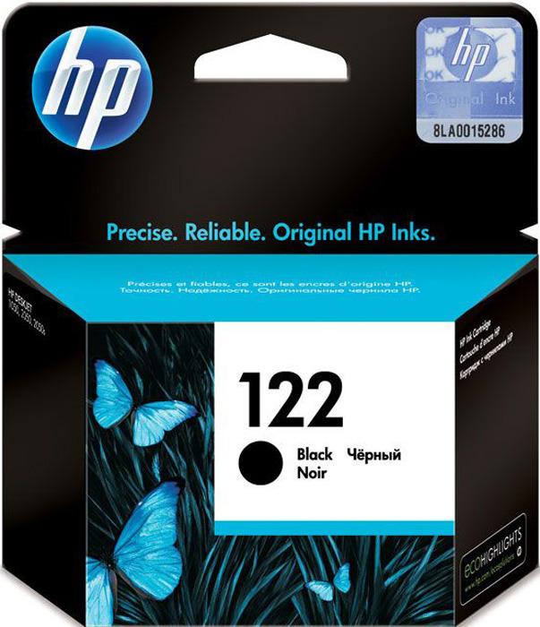 Картридж HP 122, черный, для струйного принтера, оригинал