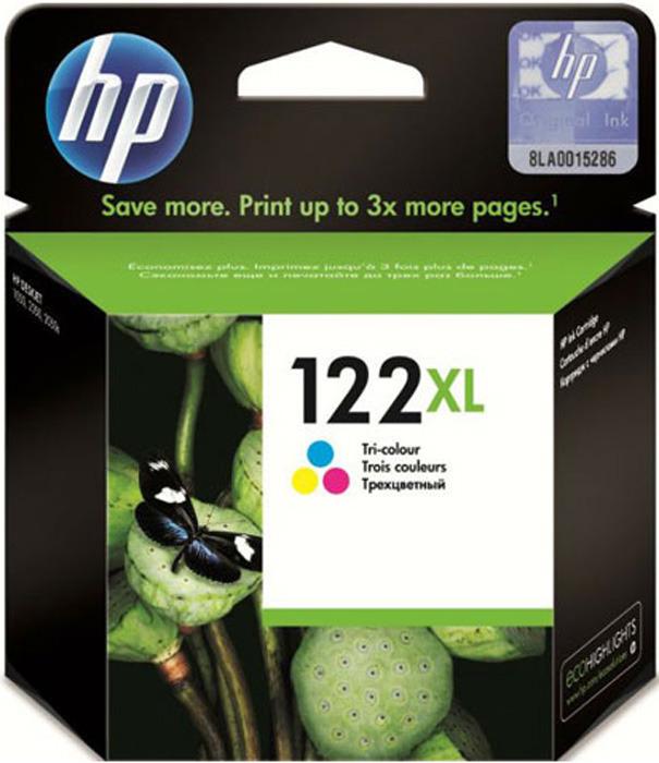 Картридж HP 122XL (CH564HE), голубой, пурпурный, желтый картридж hp 122xl многоцветный [ch564he]