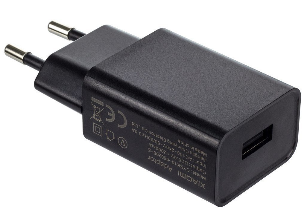 Сетевое зарядное устройство Xiaomi (Mi) Power Adaptor 5V 2A (MDY-08-EO) black зарядное устройство remax rcc304 aliens 3xusb 5v 4 2a black 71786