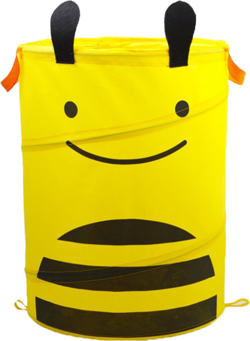 Корзина для хранения складная Bradex Пчелка, цвет: желтый bradex ранец детский пчелка цвет желтый