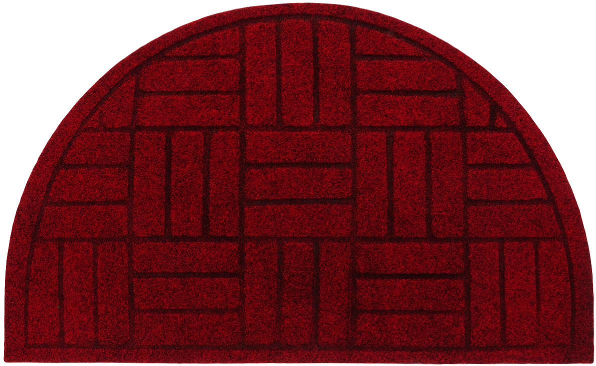 цена на Коврик придверный EFCO Оскар. Цветы, цвет: красный, 65 х 40 см