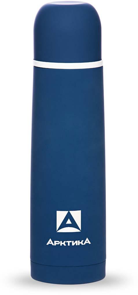 Термос Арктика, с антискользящим покрытием, цвет: синий, 500 мл. 103-500
