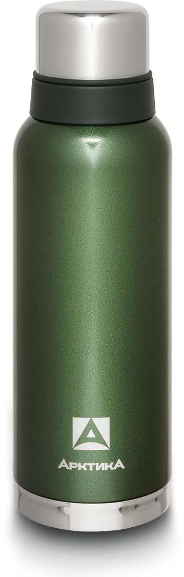 Термос Арктика, с молотковым покрытием, цвет: зеленый, 1,2 л. 106-1200