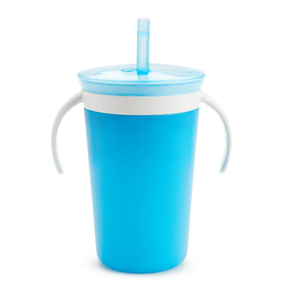 Поильник Munchkin Поймай печенье, с трубочкой, цвет: голубой munchkin контейнер для сухих смесей latch munchkin
