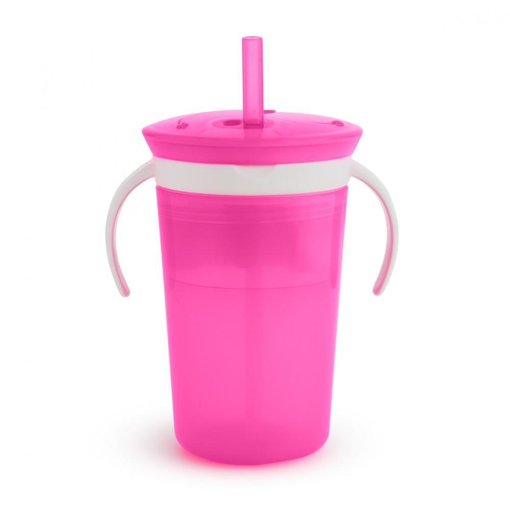 Поильник Munchkin Поймай печенье, с трубочкой, цвет: розовый munchkin контейнер для сухих смесей latch munchkin