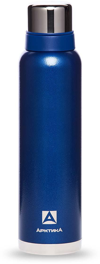 Термос Арктика, с молотковым покрытием, цвет: синий, 1,6 л. 106-1600106-1600 синийТермос с супер узким горлом, глухой пробкой в молотковом покрытии и двум чашками в комплекте