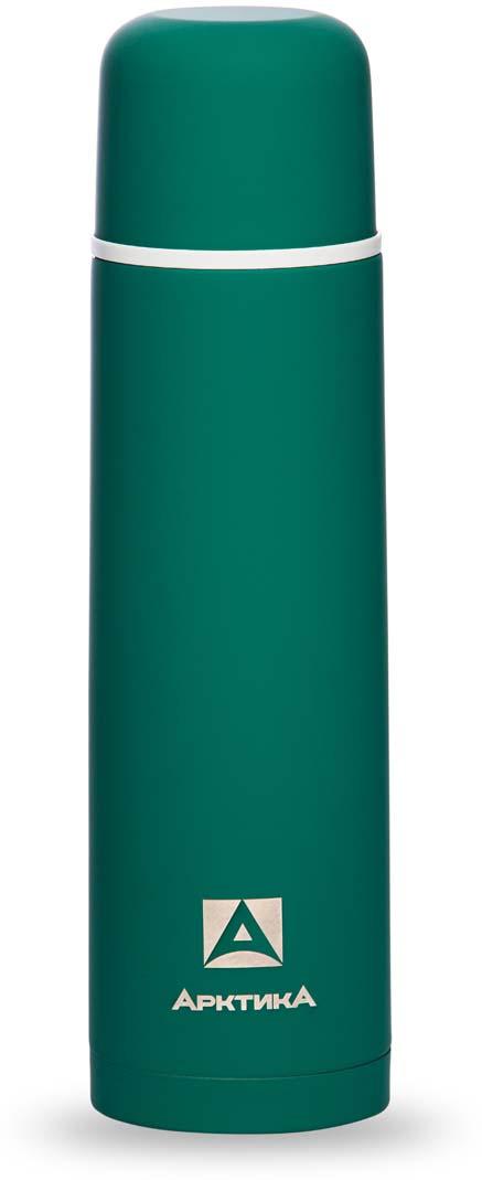 Термос Арктика, с антискользящим покрытием, цвет: зеленый, 1 л. 103-1000 арктика арктика термос с узким горлом 1 л хаки
