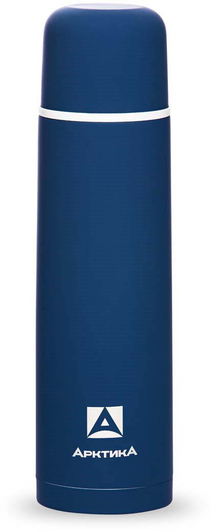 Термос Арктика, с антискользящим покрытием, цвет: синий, 1 л. 103-1000 арктика арктика термос с узким горлом 1 л хаки