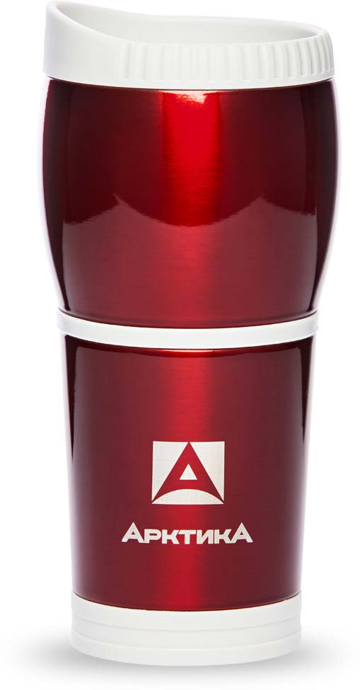Термокружка автомобильная Арктика, цвет: красный, 400 мл. 807-400