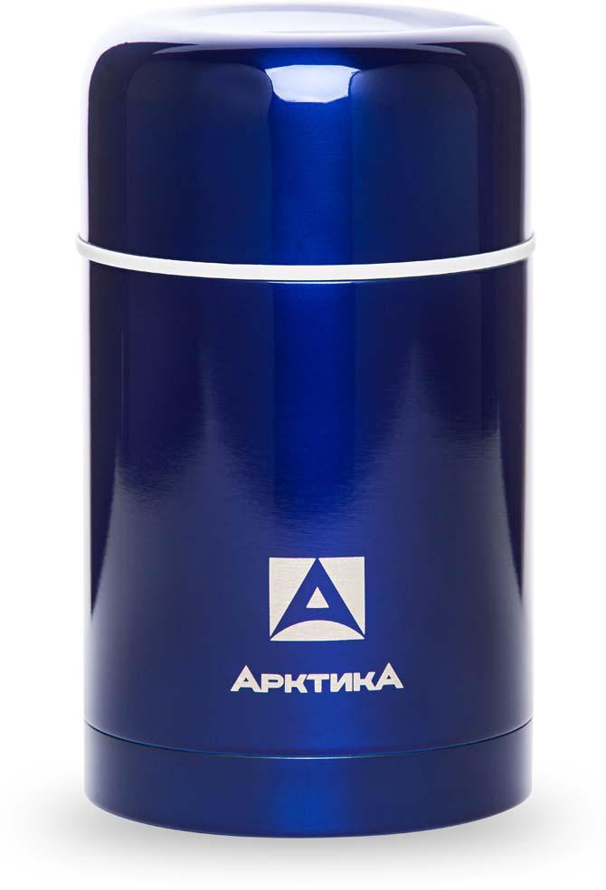 Термос Арктика, с супершироким горлом, пробка с клапаном, цвет: синий, 750 мл. 302-750