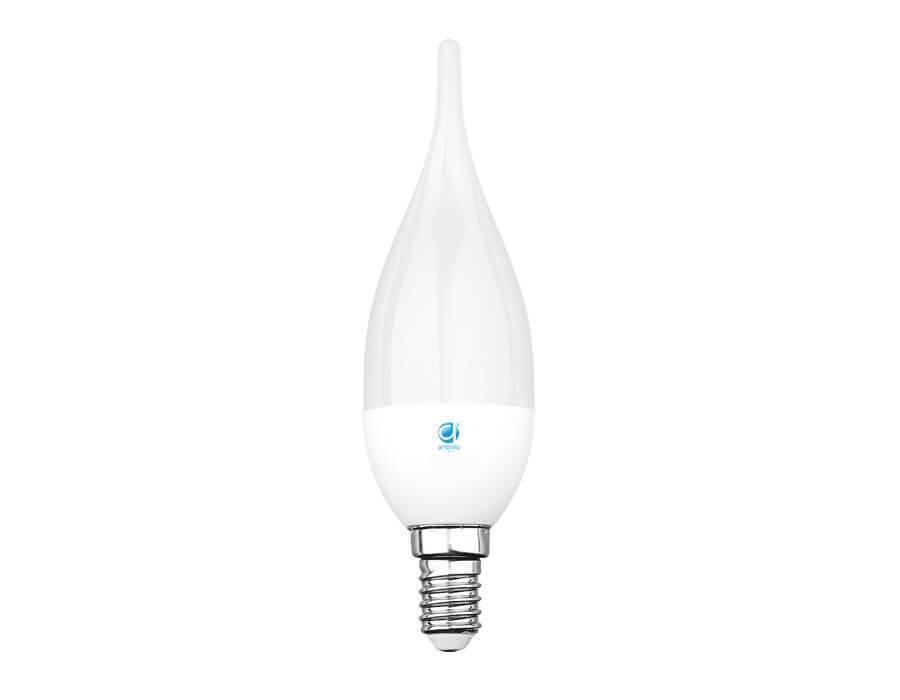Лампочка Ambrella light Свеча на ветру, 6W, E14, 3000K205014Led лампа модели «Свеча» изготовлена из высококачественного пластика. Мощность лампы составляет 6 W, что эквивалентно лампе накаливания мощностью 60 W. Подходит для использования с цоколем E14, питание 220 V. Лампа излучает теплый желтоватый свет с цветовой температурой 3000 К, который сравним со светом традиционной лампочки. Светодиодные лампы Амбрелла представляют собой качественный товары для освещения дома или офиса. Компактный размер светодиодных ламп позволяет использовать их практически в любом помещении, открытых, закрытых или точечных светильниках. Температурный диапазон использования варьируется от -20 до +50 градусов. Отличаются высокий уровнем надежности и эксплуатационным ресурсом.