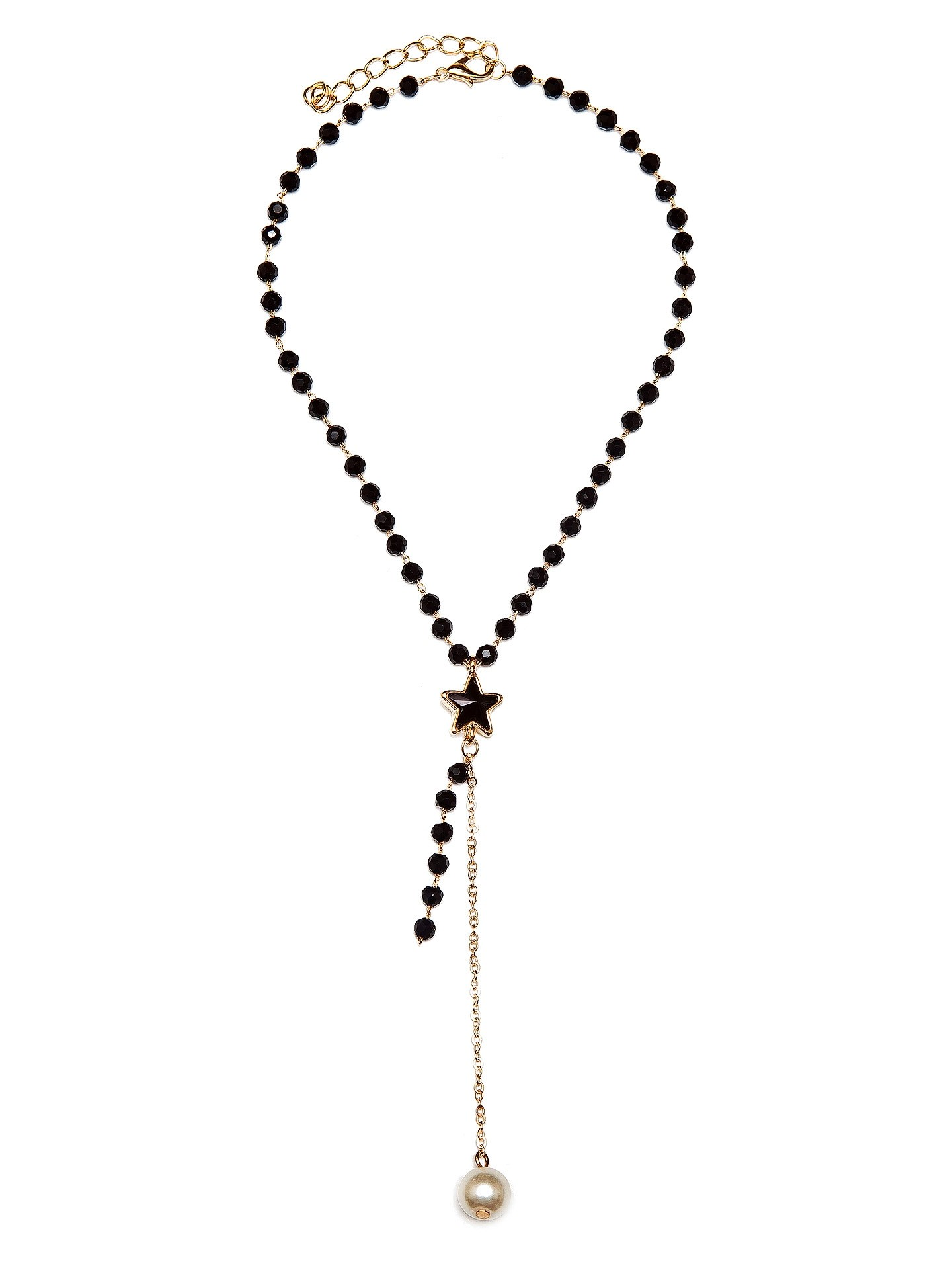 Колье Aiyony Macie, NC800136, черный, золотойNC800136Размер 30+5 х 04 см, размер украшения 11 х 1,3 см. Состав: сплав на основе латуни, кристаллы, акрил