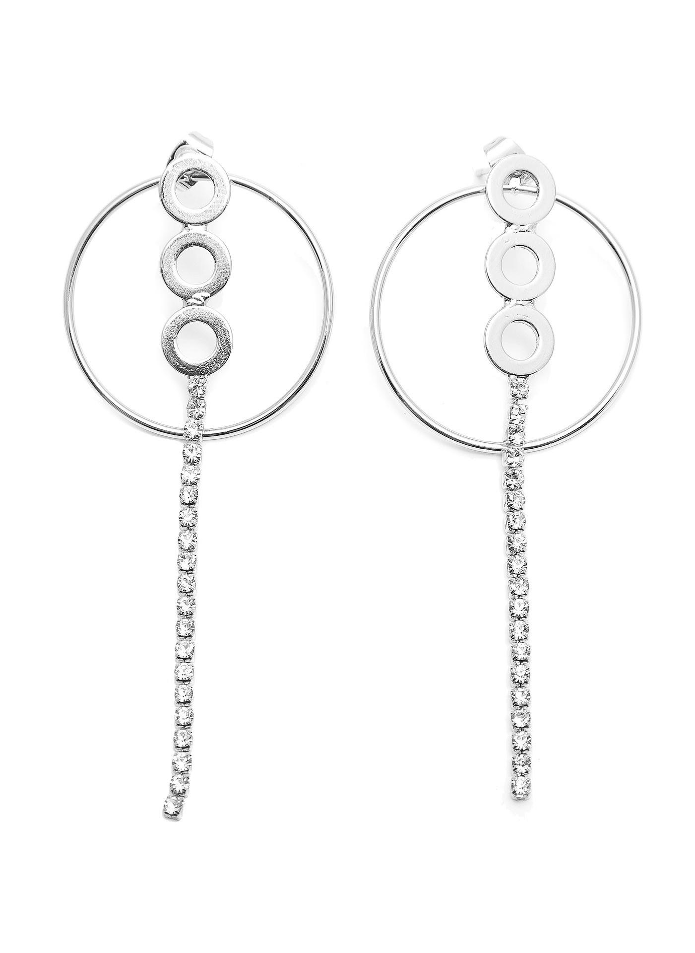 Серьги Aiyony Macie, ER800012/1, серебряный жен крупногабаритные прочее стразы серьги слезки секси крупногабаритные мода серебряный лиловый розовый волны серьги назначение
