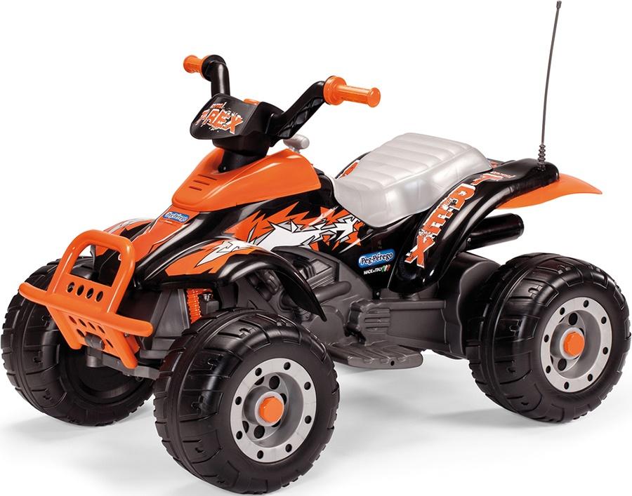 Электромобиль Peg-Perego Corral T-Rex, цвет: оранжевый, черный kidscars электромобиль квадроцикл цвет черный
